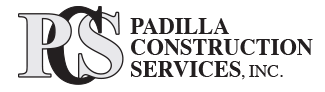 Padilla Construction Services, Inc. Logo